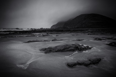 a-rainy-day-on-welcombe-mouth-beach-by-david-gibbeson