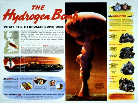 The Hydrogen Bomb UK civil defence poster