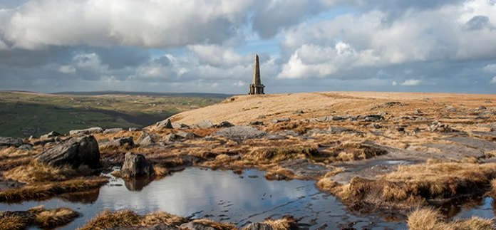 monument to the fall of Paris during the Crimean War situated high on the moorland of the south pennines close to Todmorden in Lancashire