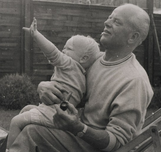 My favourite picture of my Dad with Michael) 1969-ish